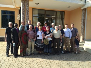 Shinyanga Virgie Mark Hotel 2015 Americans in town for ordination