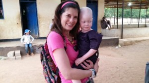 albini child with missionary