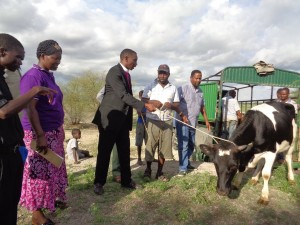 bishop gives away first cow