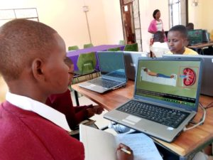 student in Tanzania loves online hearning